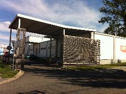 Budova výroby - brána